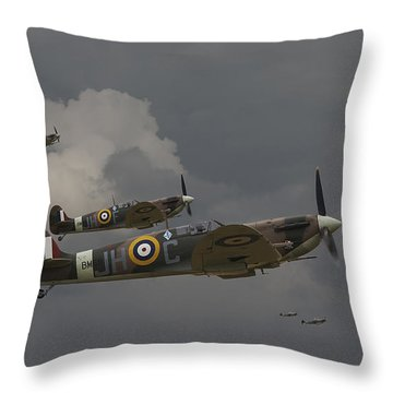 317 Polish Squadron Throw Pillow by Pat Speirs