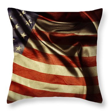 American Flag 51 Throw Pillow