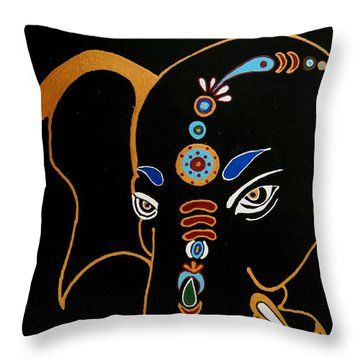 32 Gajakarna Ganesh Throw Pillow