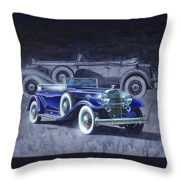 32 Packard Throw Pillow by Richard De Wolfe
