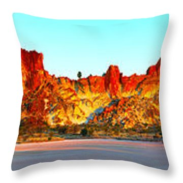 Rainbow Valley Throw Pillow by Bill  Robinson