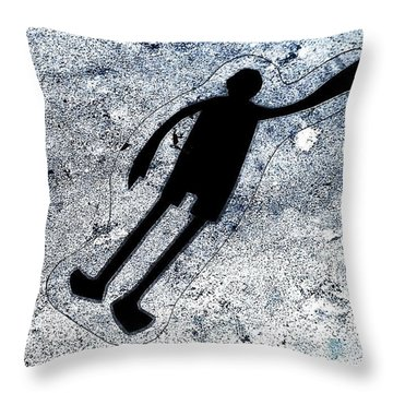 Sticker Throw Pillow