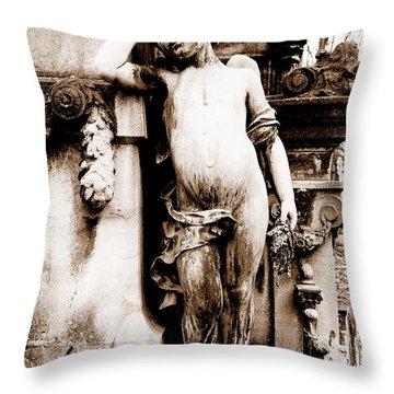 Pere-lachais Cemetery In Paris France Throw Pillow by Richard Rosenshein