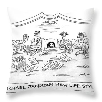 New Yorker July 4th, 2005 Throw Pillow