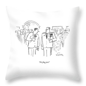 No Flag Pin! Throw Pillow