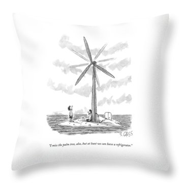 I Miss The Palm Tree Throw Pillow