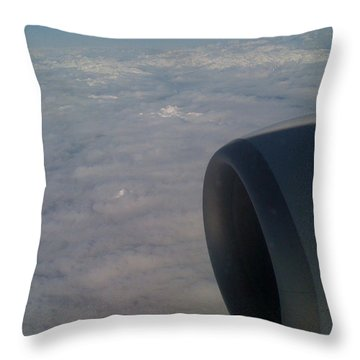 33000 Feet Throw Pillow by Mark Alan Perry