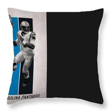 Carolina Panthers Throw Pillow by Joe Hamilton