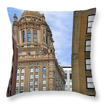 35 East Wacker - Jewelers' Building Chicago Throw Pillow by Christine Till