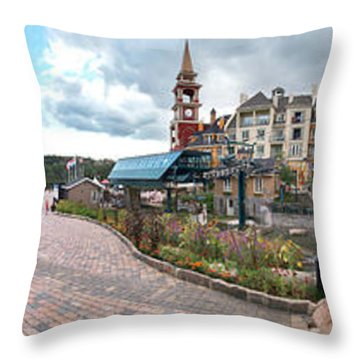 360 View Panorama, Mont-tremblant Throw Pillow by Henry Lin