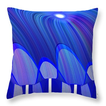 362 - Lucid Blue 3 Throw Pillow by Irmgard Schoendorf Welch