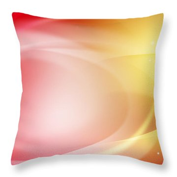 Abstract Background. Throw Pillow by Les Cunliffe