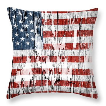 American Flag 49 Throw Pillow
