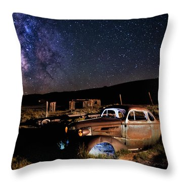 '37 Chevy And Milky Way Throw Pillow