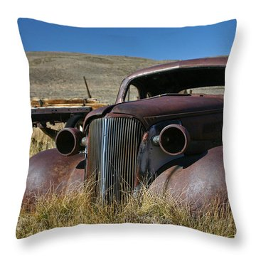 '37 Chevy In Bodie Throw Pillow