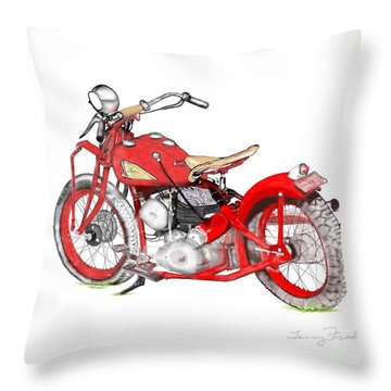 37 Chief Bobber Throw Pillow
