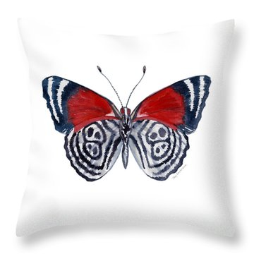 37 Diathria Clymena Butterfly Throw Pillow