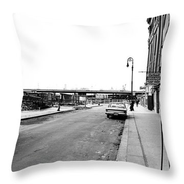 Twin Towers Throw Pillow