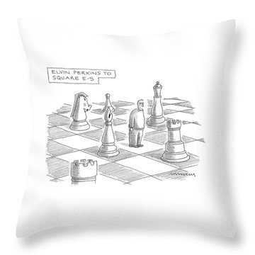 Elvin Perkins To Square E-5 Throw Pillow
