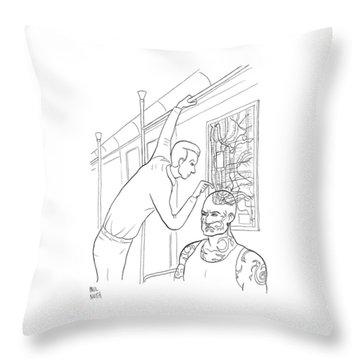 New Yorker April 21st, 2008 Throw Pillow
