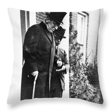 Woodrow Wilson (1856-1924) Throw Pillow by Granger