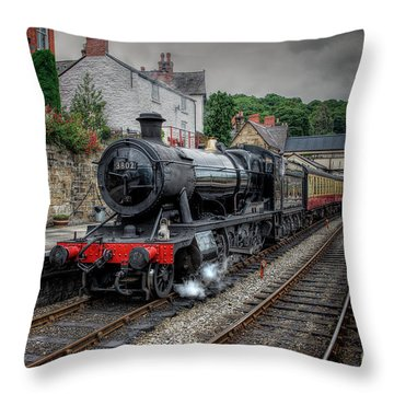 3802 At Llangollen Station Throw Pillow by Adrian Evans