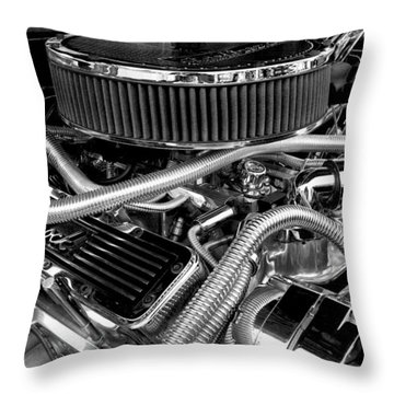 383 Small Block Throw Pillow
