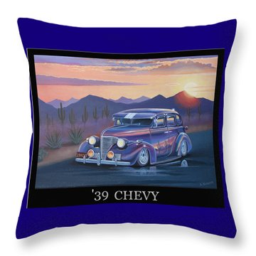 '39 Chevy Throw Pillow