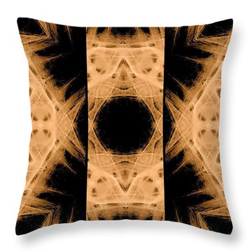 3d Abstract Fractal Throw Pillow by Maggie Vlazny