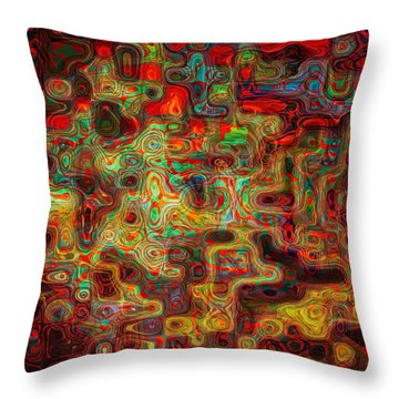 3d Circuitry Throw Pillow