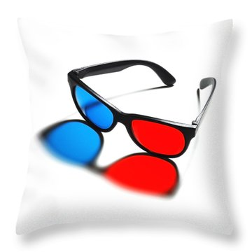 3d Glasses Throw Pillow