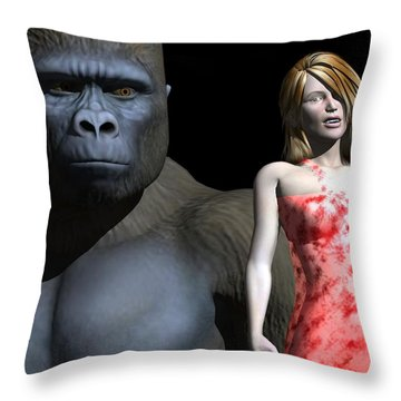 3d Is No Place To Hide Throw Pillow