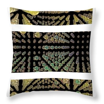 3d Spheres Throw Pillow by Susan Leggett