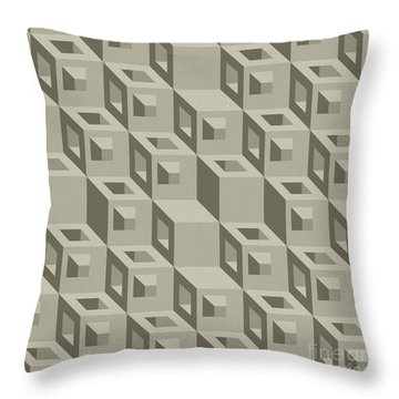 3d Structure Illusion Throw Pillow