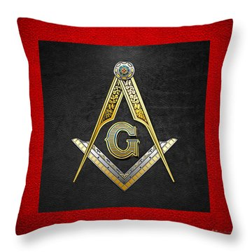 3rd Degree Mason - Master Mason Masonic Jewel  Throw Pillow