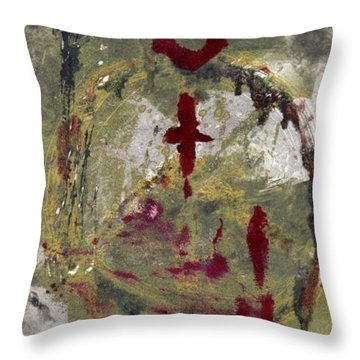 Throw Pillow featuring the painting 3rd Peace by Lesley Fletcher