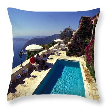 Throw Pillow featuring the photograph  Chateu De La Chevre D'or by Carl Purcell