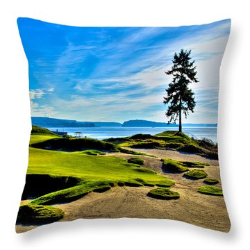#15 At Chambers Bay Golf Course - Location Of The 2015 U.s. Open Tournament Throw Pillow