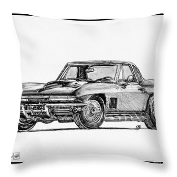 1967 Corvette Throw Pillow