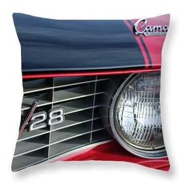 1969 Chevrolet Camaro Z-28 Grille Emblem Throw Pillow by Jill Reger