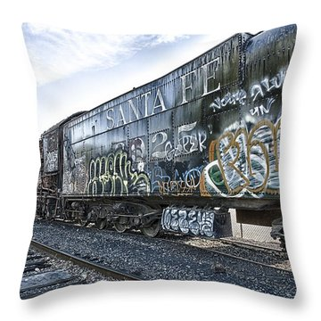 Throw Pillow featuring the photograph 4 8 4 Atsf 2925 In Repose by Jim Thompson