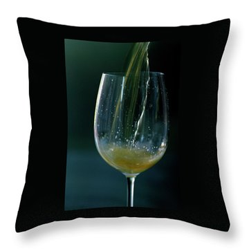 A Glass Of Beer Throw Pillow