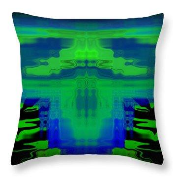 Abstract 101 Throw Pillow by J D Owen