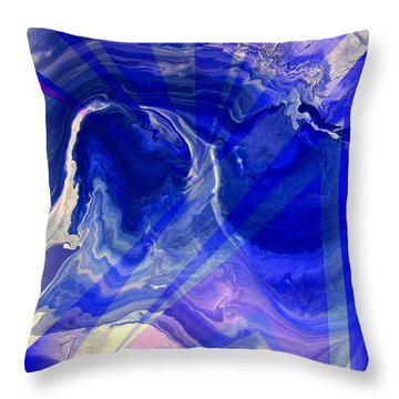 Abstract 36 Throw Pillow by J D Owen