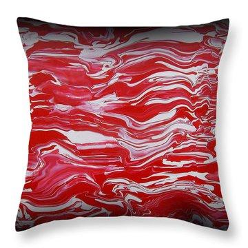 Abstract 85 Throw Pillow by J D Owen