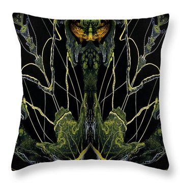 Abstract 92 Throw Pillow by J D Owen