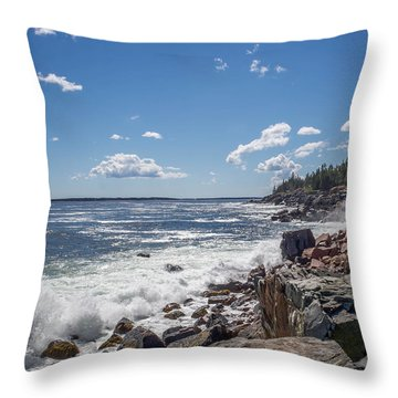 Throw Pillow featuring the photograph Acadia National Park by Trace Kittrell