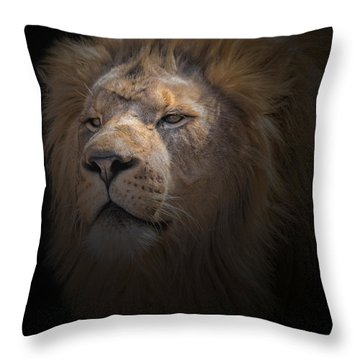 Throw Pillow featuring the photograph African Lion by Peter Lakomy