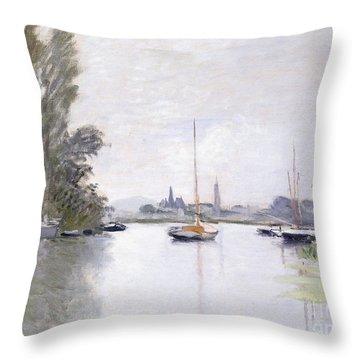 Argenteuil Throw Pillow by Claude Monet