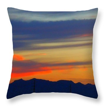 Arizona Sunset Throw Pillow